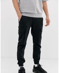 Jack & Jones Intelligence Cuffed Cargo Trouser - Black