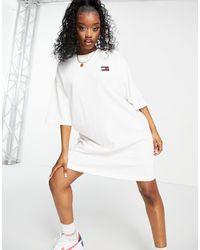 Tommy Hilfiger Белое Платье С Короткими Рукавами И Логотипом -белый