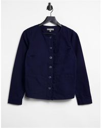 Oasis Denim Jacket With Frill Detail - Blue