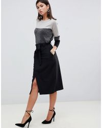 eaa5df500685d ASOS - Tailored Pencil Skirt With Obi Tie - Lyst
