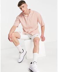Pull&Bear Розовая Рубашка С Отложным Воротником -розовый Цвет