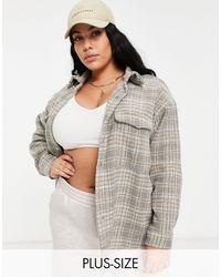Missguided Oversized Shacket - Grey