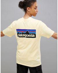 Patagonia - P-6 Logo T-shirt In Lemon - Lyst