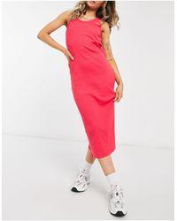 Lacoste Racer Back Midi Dress - Red