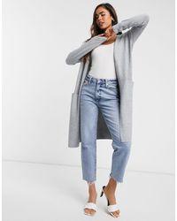 Vero Moda Longline Cardigan - Gray
