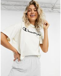 Champion Oversized Cropped Top - White