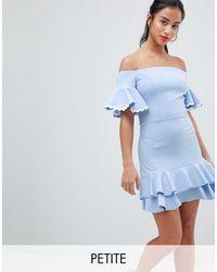 John Zack - Mini-jurk Met Blote Schouders - Lyst