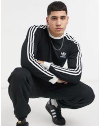 adidas Originals Черный Лонгслив С Тремя Полосками Adicolor-черный Цвет