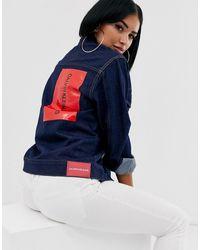 Calvin Klein - Chaqueta vaquera estilo camionero con logo - Lyst