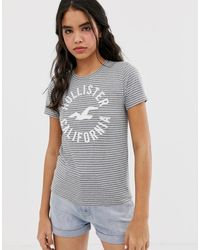 Hollister T-shirt With Classic Logo - Gray
