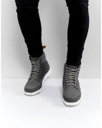 Dr. Martens Lite Rigal Knit 8 Eye Boots - Grey