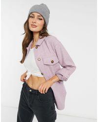 New Look Бледно-розовая Уютная Куртка-рубашка Свободного Кроя -розовый Цвет