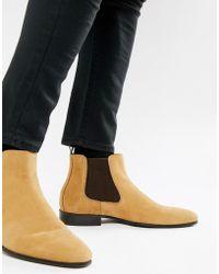 ALDO - Chenadien Chelsea Boots In Beige Leather - Lyst