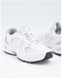 New Balance Белые Кроссовки 530 Metallic-белый