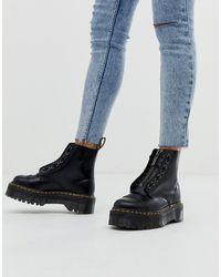 Dr. Martens - Черные Кожаные Ботинки На Плоской Платформе С Молнией Sinclair - Lyst