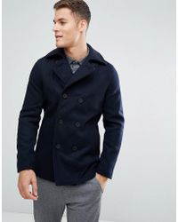 Only & Sons - Wool Peacoat - Lyst