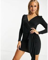 Ivyrevel Ivy Revel Drape Front Dress - Black