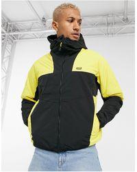Pull&Bear Padded Windbreaker Jacket - Yellow
