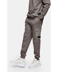 TOPMAN Ltd Cargo Joggers - Grey