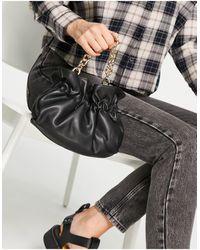 Mango Chain Detail Cross Body Bag - Black