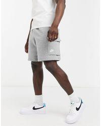 Nike Серые Шорты Карго Club-серый