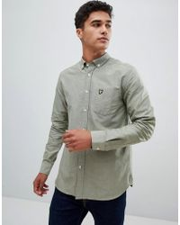 Lyle & Scott - Buttondown Shirt In Pale Green - Lyst