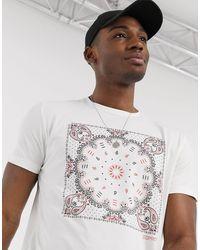 Esprit Bandana Print T-shirt - White