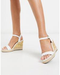 New Look Белые Туфли На Танкетке -белый