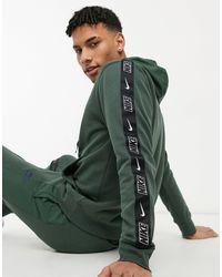 Nike Sudadera con capucha color caqui Hybrid - Verde