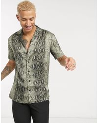 The Couture Club Shirt In Snake Print - Natural