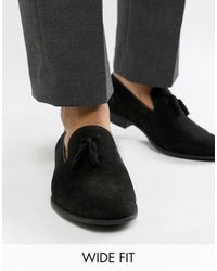 ASOS Wide Fit Tassel Loafers - Black
