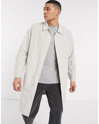 ASOS Commuter Coat With Contrast Binding - Natural