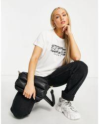 DKNY T-shirt avec logo zébré - Multicolore - Blanc