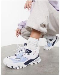 Calvin Klein Бело-синие Кроссовки На Толстой Подошве Jeans Сlarice-многоцветный