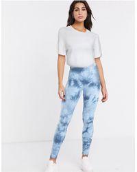 ASOS Leggings tono su tono tie-dye - Blu