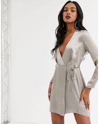 ASOS Wrap Mini Dress - Multicolour