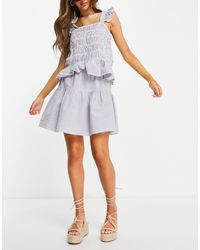 Y.A.S Frill Detail Mini Skirt Co-ord - Multicolour