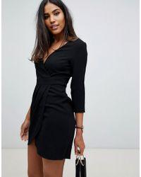 ASOS - Mini-jurk Met Overslag - Lyst