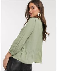 Warehouse Pleated Blouse - Green