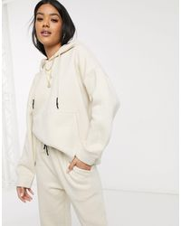 Public Desire Oversized Hoodie Co-ord - Natural