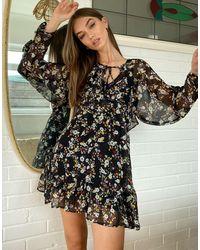 TOPSHOP - Разноцветное Платье Мини С V-образным Вырезом Горловины -мульти - Lyst