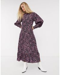 TOPSHOP Midi Dress - Purple