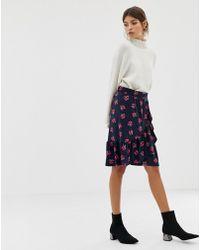 0ce6f24b7 Y.A.S Long Leopard Print Skirt in Black - Lyst
