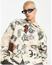 Jaded London Co-ord Workwear Jacket - Multicolour