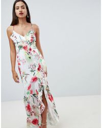 0bea630299 Lipsy Cage Maxi Dress in Green - Lyst