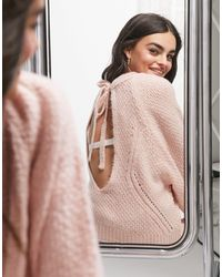 ASOS Sweater With Open Back Detail - Pink