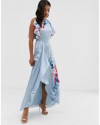 Ted Baker Платье Макси С Цветочным Принтом Raspberry Ripple Fredila - Синий