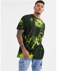 Liquor N Poker – es T-Shirt mit Neon-Batikmuster - Schwarz
