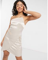 The East Order Ivona Asymmetric Mini Dress - White