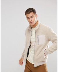 Esprit Teddy Fleece Jacket - Natural